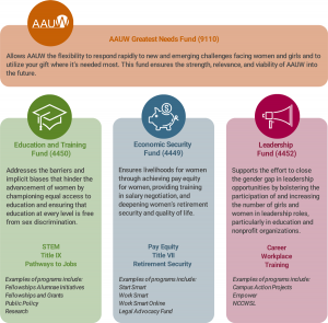 AAUW Funds diagram
