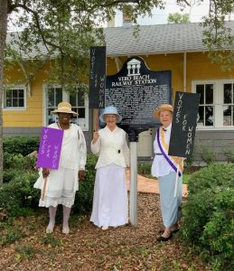 Vero Beach members dressed as suffragists