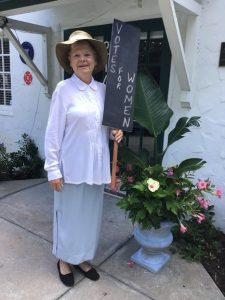 Vero Branch Member portraying suffragist