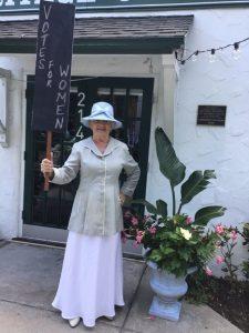 Vero Beach member dressed as suffragist