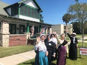 AAUW Flagler members portraying Suffragists