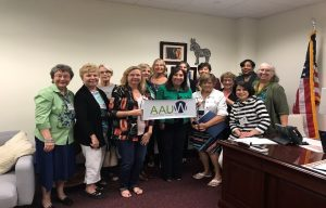 AAUW members at Lobby Days
